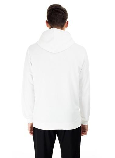 Buratti Buratti Kapüşonlu Erkek Sweat 541BURATTI Beyaz